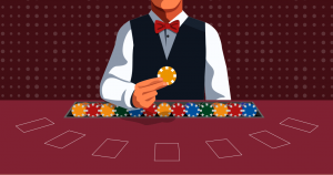 Blockchain vs Cryptocurrency Metaphor Casino Setting
